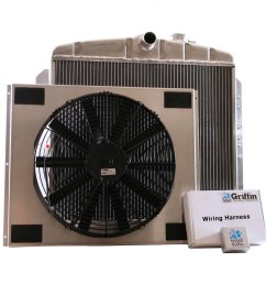 1951 chevrolet griffin aluminum radiator part number 6 00076 [ 1150 x 1150 Pixel ]