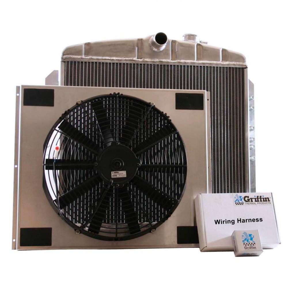 medium resolution of 1951 chevrolet griffin aluminum radiator part number 6 00076