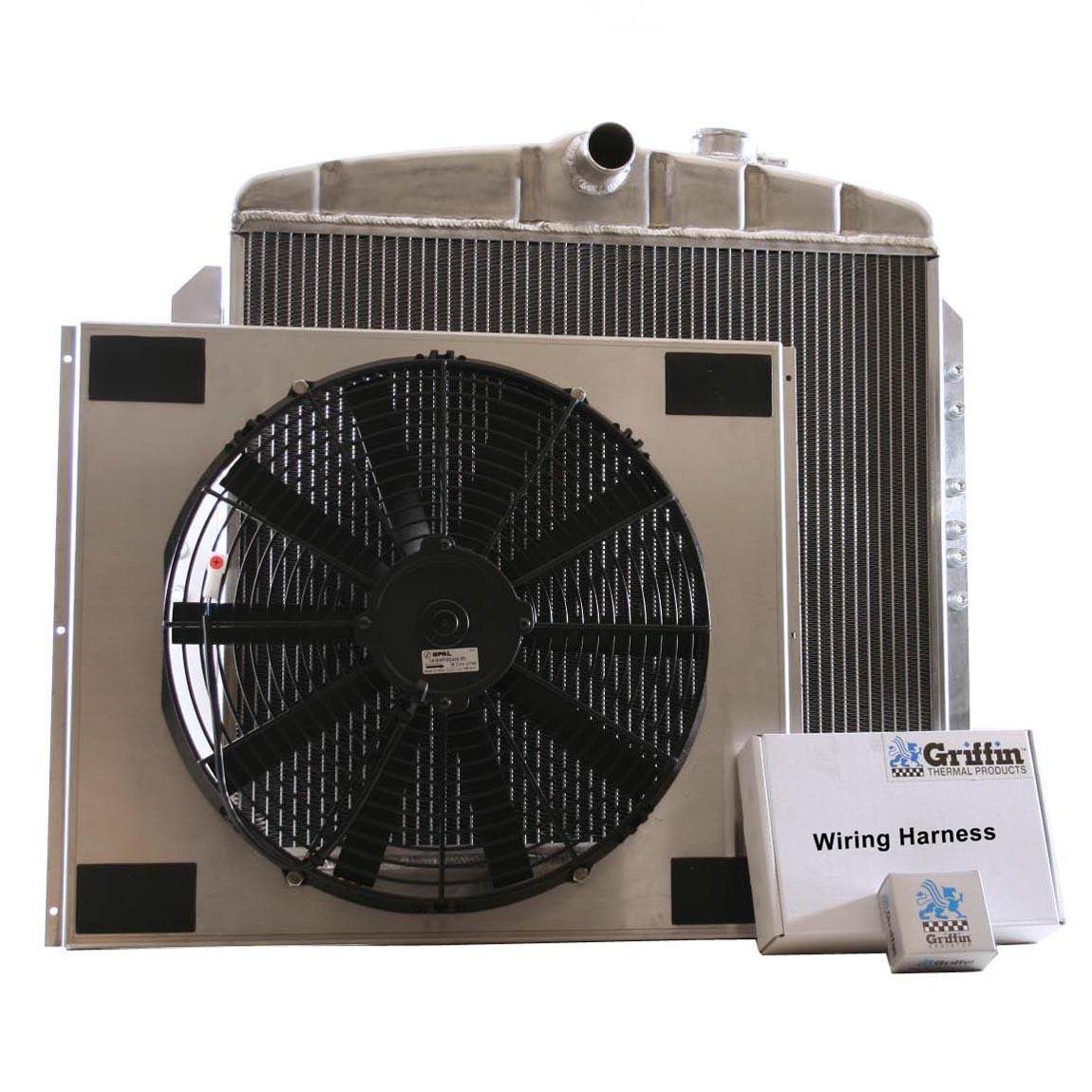 hight resolution of 1951 chevrolet griffin aluminum radiator part number 6 00076