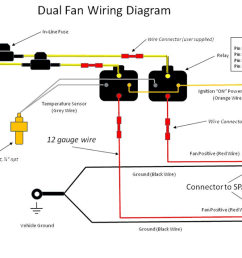 dual fan wiring diagram rh griffinrad com electric cooling fan wiring diagram basic fan relay wiring [ 1280 x 720 Pixel ]