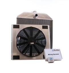 1940 ford griffin aluminum radiator part number 7 70102 [ 1150 x 1150 Pixel ]
