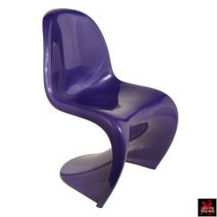 Panton S Chair Medicine Ball Target Purple Verner Mid Century Modern Furniture By Fehlbaum