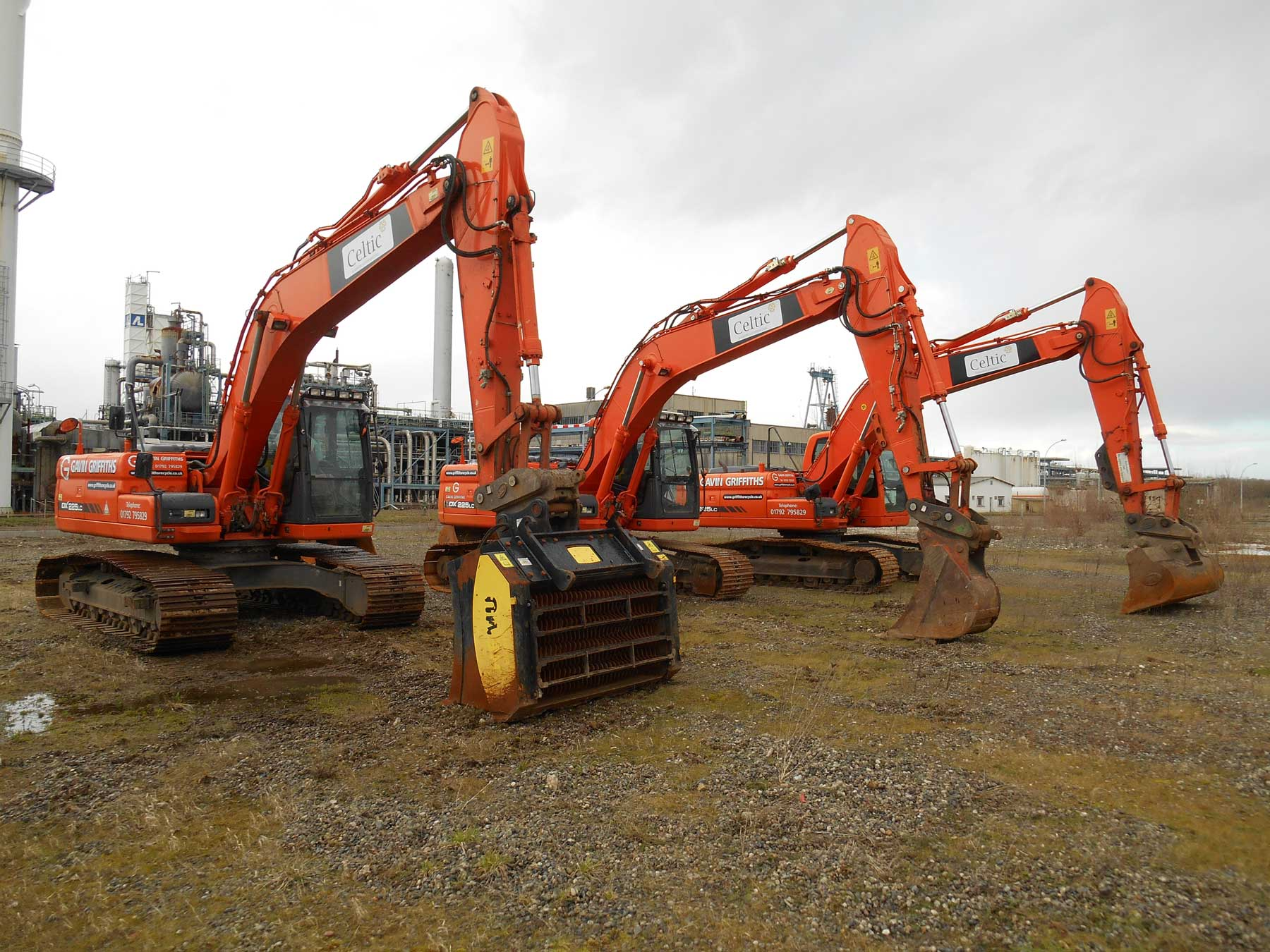 Three Excavators Griffiths Contracting