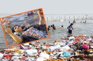 मूर्तियों पर चढ़े रंग पर्यावरण के लिए खतरा