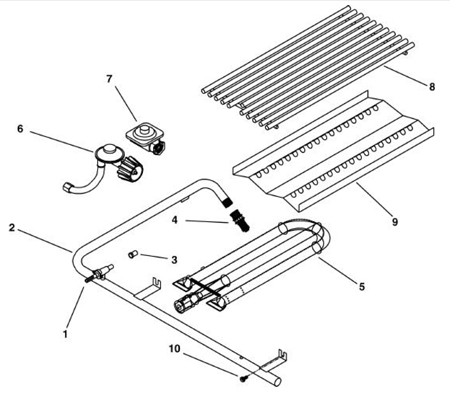 Grill Repair and OCI Parts schematics for searching repair