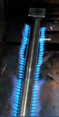 Stainless Steel Adjustable Pipe Burner With Install
