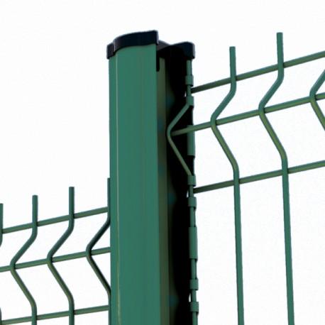 kit cloture 10m panneau rigide poteau encoches vert qualite pro