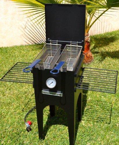 kitchener triple basket deep fryer kitchen matches laguna 5 gallon fish lgu f 001 grillepic