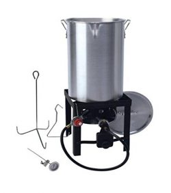 kitchener triple basket deep fryer kitchen faucet parts laguna 5 gallon fish lgu f 001 grillepic grillsmith 30 quart propane turkey set 848696008753