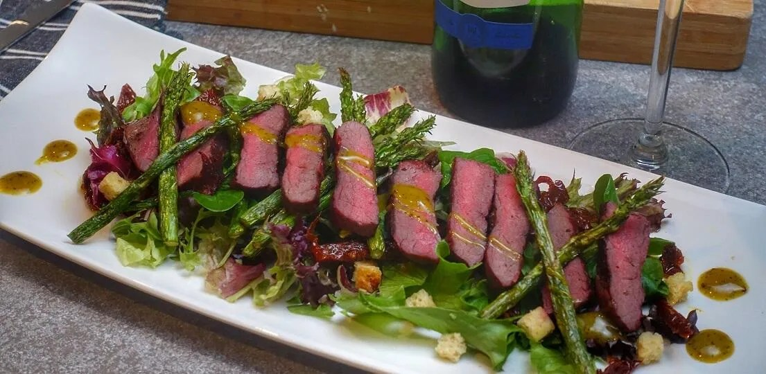 Salade met hertenrugfilet