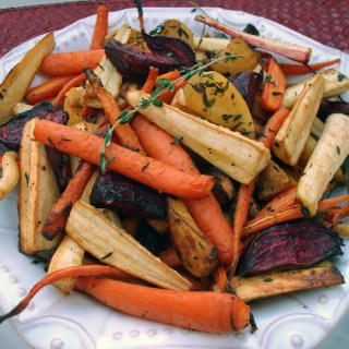 Grill-Roasted Baby Root Veggies