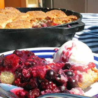 Mixed Berry Skillet Cobbler