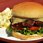 Zin-tastic Red Wine Shallot Burgers