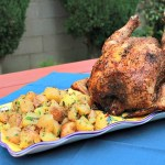 Aleppo Pepper Rubbed Beer Can Chicken & Warm Potato Salad