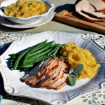 Sage-Rubbed Turkey Breast with Grilled Spaghetti Squash