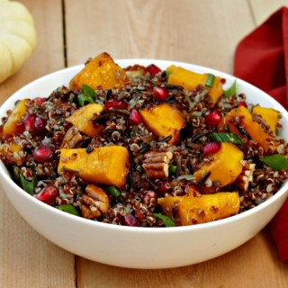 Grill Roasted Pumpkin and Red Quinoa Salad