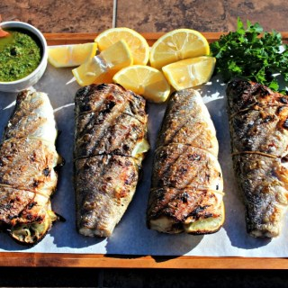 Crispy-Skin Sea Bass with Salsa Verde