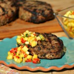 Jerk Pork Loin Chops with Mango Salsa