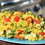 Saffron Pearl Couscous Salad