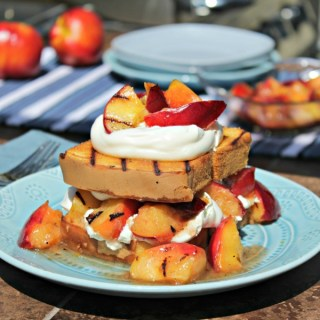 Grilled Nectarine Shortcut Shortcake