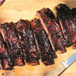 Maple Chipotle Beef Back Ribs (on the gas grill!)