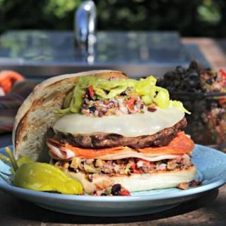 Elevate Your Tailgate: Muffaletta Burger