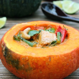 The Leftovers: Turkey Red Curry in Pumpkin Bowls