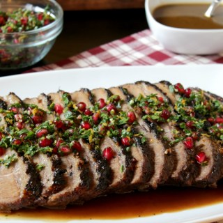 Pomegranate Glazed Brisket with Holiday Gremolata