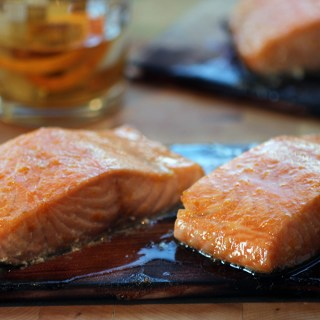 Bourbon Maple Planked Salmon - horz