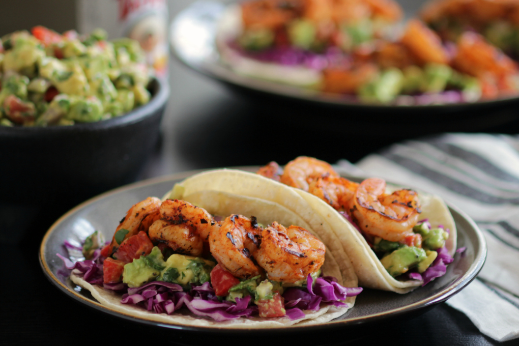 Shrimp and Avocado Tacos h