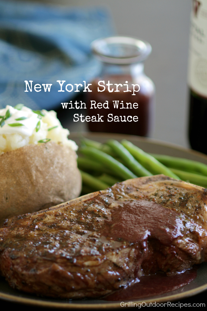 NY strip w red wine v