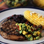 Grilled Pork Chops with Mango & Avocado Salsa