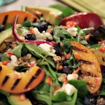 Grilled Nectarine Salad with Chile-Ginger VInaigrette