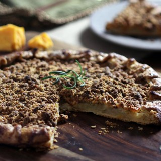 Apple Rosemary Galette with Cheddar Crumb Topping