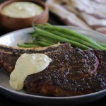 Grilled Rib Eye with Creamy Mustard & Tarragon Steak Sauce