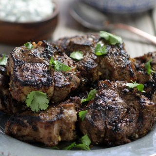 Harissa Lamb Chops with Tzatziki