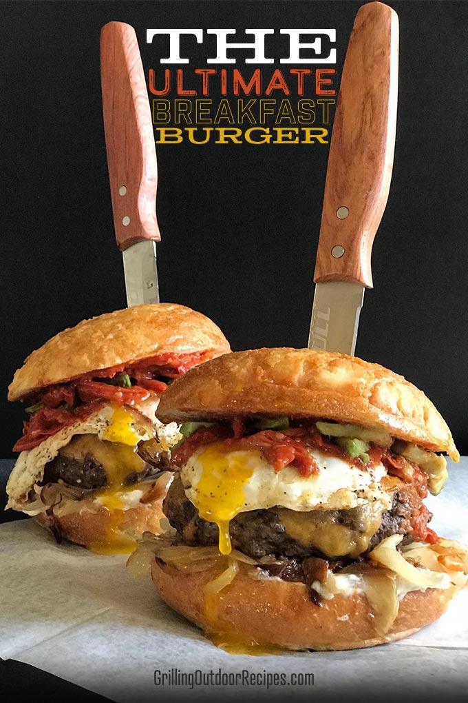 best breakfast burger the ultimate breakfast burger college football burger recipe best. Black Bedroom Furniture Sets. Home Design Ideas