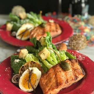 Smoked Salmon Caesar Salad with Homemade Croutons