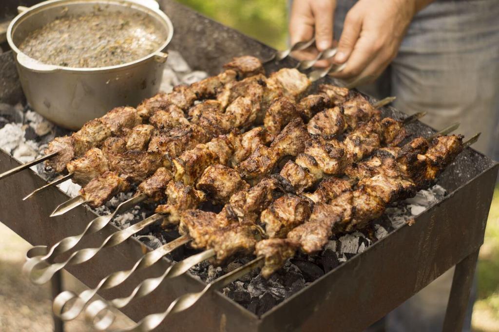 schaschlik grill test