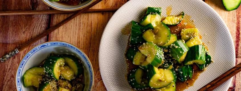 Asiatischer Gurkensalat grillnations