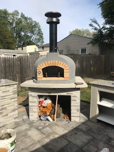 butcher block kitchen cart handles for drawers wood fired brick pizza