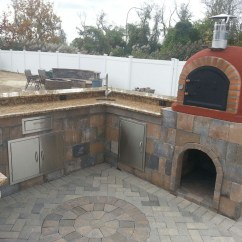 Outdoor Kitchen Pizza Oven Design Storage Cabinets With Doors Pictures