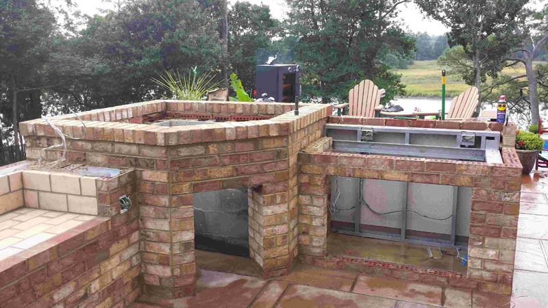 outdoor kitchen oven delta savile stainless 1 handle pull down faucet another with our wood fired watch this project in pictures please see picture gallery or other projects for more design ideas
