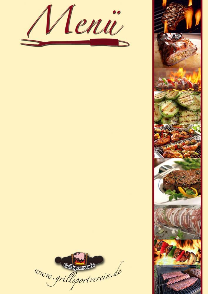 Speisekarte Word Vorlage Download