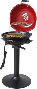 Home well Electric Grill Indoor & Outdoor BBQ with Warming Rack 1600 Watts