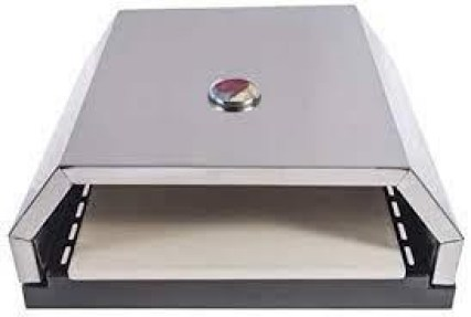 Open Faced Grill Pizza Oven with Stone for Gas or Charcoal Grill
