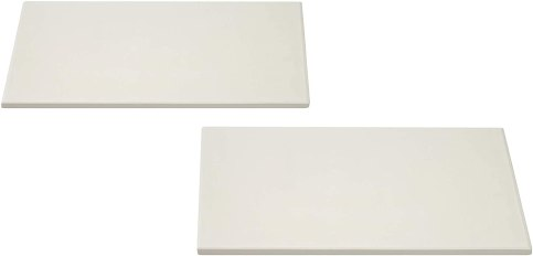 """Concord Pizza Stone (2 Pack) with Cordierite Heatwell Technology. Pizza and Bread Baking, Grilling Stone. Durable and Safe (16"""" Rectangular)"""