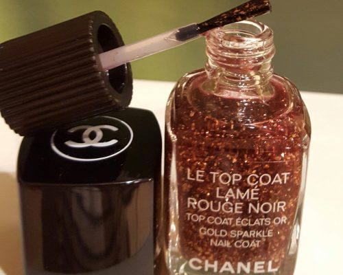 Le top coat lamé rouge noir на Chanel