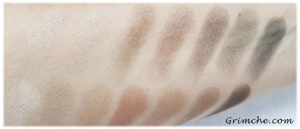 ПалитратаThe Delectable PaletteDelicious Shades Of Nude наLaura Gellar swatches dry
