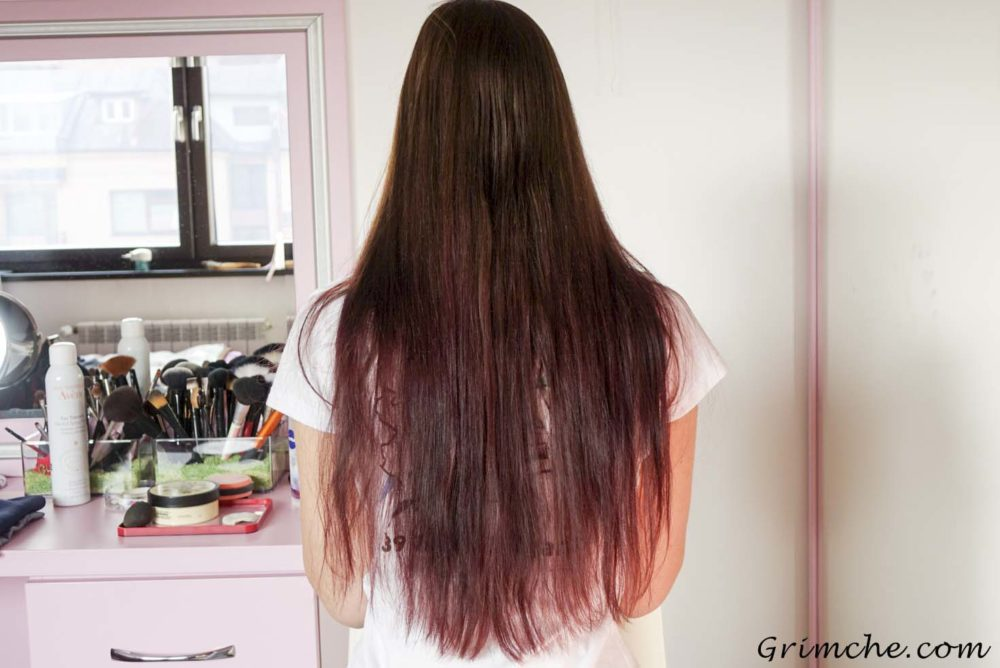 боя за коса Lóreal colorista burgundy hair